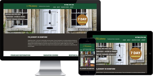 small business website example