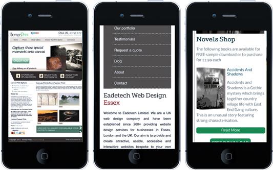 responsive vs non responsive mobile sites